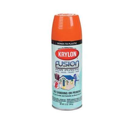 paint spray cans krylon fusion for plastic safety orange. Black Bedroom Furniture Sets. Home Design Ideas