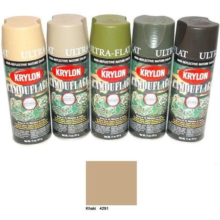 expendables paint spray cans krylon camouflage khaki. Black Bedroom Furniture Sets. Home Design Ideas