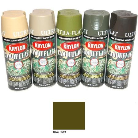 expendables paint spray cans krylon camouflage olive. Black Bedroom Furniture Sets. Home Design Ideas